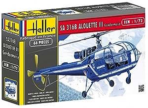 Heller - 80286 - Construction Et Maquettes - Sa 316 Alouette Iii Gendarmerie - Echelle 1/72ème