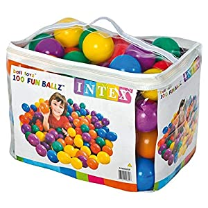 Intex 49600NP - Pack 100 bolas multicolor 8 cm diámetro