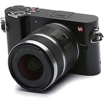"""YI M1 Fotocamera Digitale Mirrorless 4K, MFT Micro Quattro Terzi, Schermo Touchscreen 3"""", 12-40mm F3.5 - 5.6, Foto 20 MP, Video 4K / 30fps, Obiettivo Intercambiabile, Bluetooth, Wifi - Nero Tempesta"""