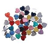 #4: Generic 50 Pcs Chic Fashion Beautiful Mix Heart Combination Flatback Appliques Buttons DIY Crafts