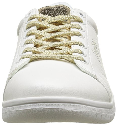 Le Temps des Cerises Sacha, Baskets Basses Femme Blanc (White Gold)