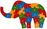 PIGLOO Wooden Elephant Puzzle Toy With A...