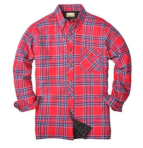 Backpacker Herren Flanell/Quilt Shirt Jacke gefüttert, Herren, Blue/Stuart, XL Tall