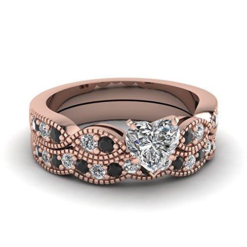 bianco-e-nero-a-forma-di-cuore-zirconi-milgrain-weave-set-di-matrimonio-anello-in-argento-sterling-9