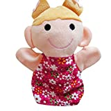 AMA(TM) 18CM Baby Kids Home Family Members Finger Puppets Infant Kid Toy Plush Toys Educational Toy Christmas Gifts (C)