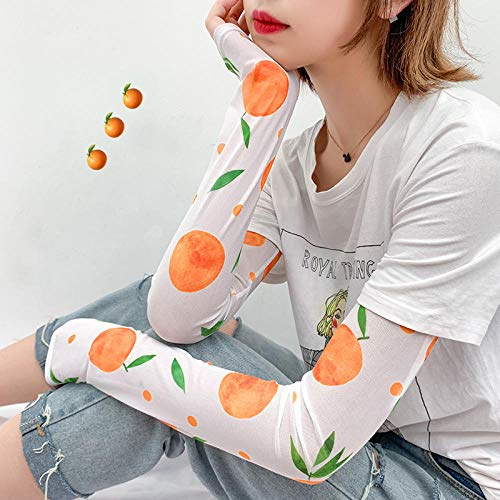 Chica hermosa manga de hielo protector solar mano manga manga delgada equipo al aire libre pequeña belleza guantes de verano artefacto estilo lindo kawaii ccf-43 @ b