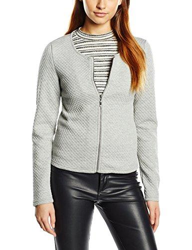 Vila Damen Vinaja New Short Jacket Blazer, Grau (Light Grey Melange), 34 (Herstellergröße:XS)
