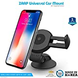 #2: ZAAP Quicktouch Two Car Mount Mobile Holder For Interior Fittings Car Windshield, Dashboard & Working Desks (Black)
