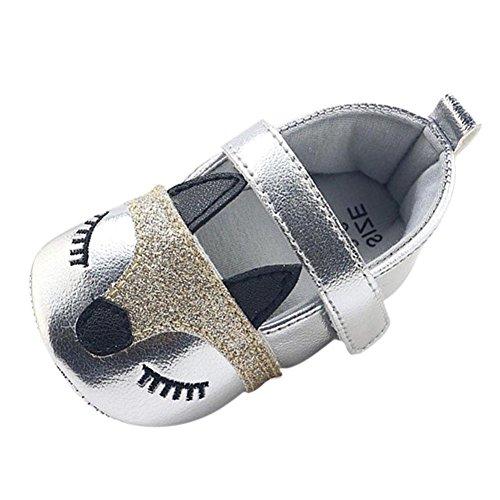 Hankyky Baby Kind Mädchen Junge Anti Skid Weiche Sohle Lauflernschuhe Sneaker Krippeschuhe Kleinkind Schuhe Leder (0 ~ 18 Monate) E