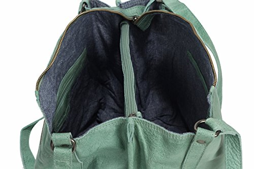 Greenburry Stainwashed Sac bandoulière cuir 35 cm green