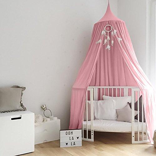 Tyhbelle Baby Baldachin Betthimmel Kinder Babys Bett Baumwolle Hängende Moskiton für Schlafzimmer Ankleidezimmer Spiel Lesen Zeit Höhe...