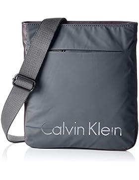 Calvin Klein Jeans Herren Logan 2.0 Flat Umhängetaschen, 28x25x3 cm