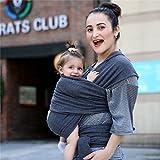 egmao 2017–Pañuelo portabebés para recién nacidos suave para bebé Wrap transpirable Wrap Hip Asiento amamantar nacimiento cómodo Enfermería cubierta Gery