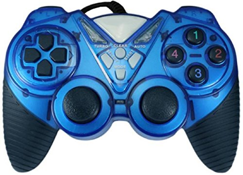 OYD Turbo Double Vibration Game Pad (Blue)