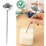 CASON (DEVICE OF C) Digital 50°C to +300°C PVC Thermometer Probe for Kitchen, Medium(White)