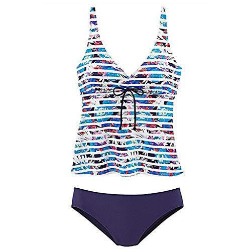 Bfmyxgs Damenmode Streifen Badebekleidung Sexy Sommer Backless Stilvolle Beachwear Siamesischer Badeanzug Bikini Monokini Sets
