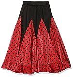 La Señorita Flamenco Rock Kinder Spanische Kleider rot mit schwarzen Punkten (rot schwarz, Größe 10, 128-134)
