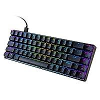 لوحة مفاتيح بإضاءة خلفية من Goofly MK14 RGB 68 مفتاحًا لوحة معدنية N-key Rollover للألعاب باللون الأزرق مفاتيح عائمة 18 تأثيرات ضوئية أسود CZQGOOFLYC9624BKT-SA