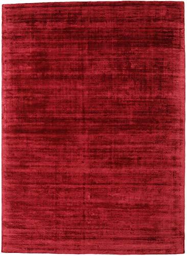 CarpetVista Tribeca - Dunkel Rot Teppich 210x290 Moderner Teppich -