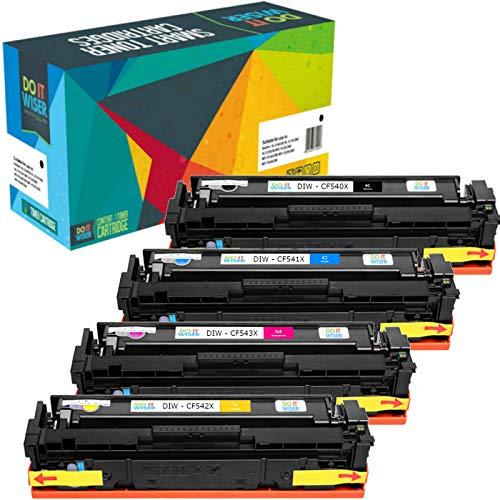 4 Do it Wiser Toner Kompatibel zu HP 203X CF540X zu HP Color Laserjet Pro M281fdw M254dw M254nw M254dn M281cdw MFP M281fdw MFP M280nw