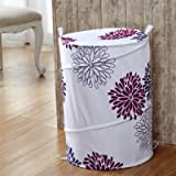 #8: Home Essentials Laundry Basket with Zippered Lid and Carry Handle. Cloth Basket Helps to store clothes, toys and other items. Portable | Washable | Handy - Design as per availibility