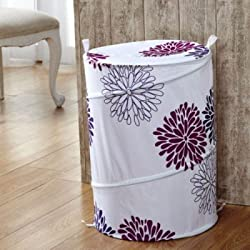 Home Essentials Laundry Basket with Zippered Lid and Carry Handle. Cloth Basket Helps to store clothes, toys and other items. Portable | Washable | Handy - Design as per availibility