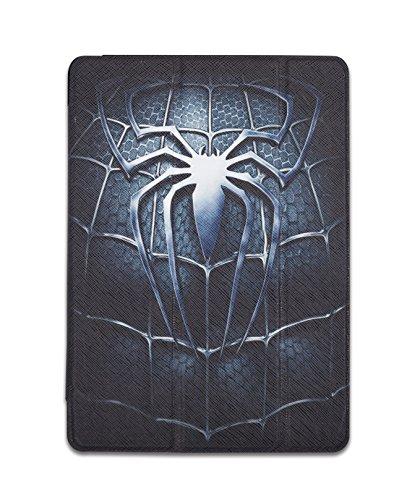 summitlink Spider Mottoparty Kunstleder für Apple iPad Air 2Hülle Smart Cover Transparent Back Cover Ultra Slim Automatische Sleep/Wake, 3x Winkel Ständer