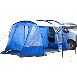 51v9cmVz QL. SS300  - Skandika Aarhus Free-Standing Minivan Awning Travel Tent with Sleeping Cabin and 3000 mm Water Column, Blue, 2 Persons