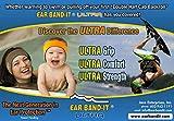 Ear Band-It Fascia da Nuoto con Protezione per l'acqua con Tappi per Le Orecchie (Tenere l'acqua Fuori e Il Medico Lo raccomanda e Lo inventa per Un Medico) I Piccoli (età 1-3) Rosa Caldo