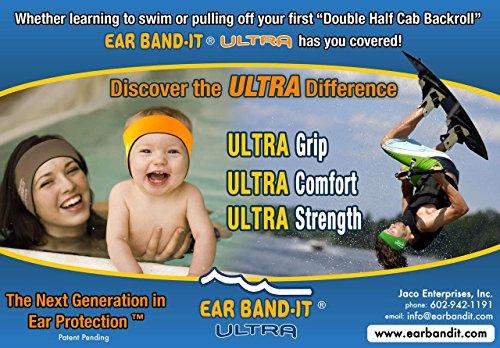 Ear Band-it Ultra Bandeau de natation Rose Rose moyen