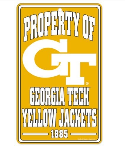 Wincraft NCAA Georgia Tech Yellowjackets 17,8 x 30,5 cm Zoll Eigentum Schild -