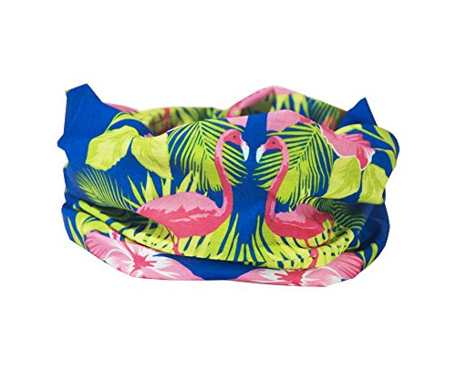 RUFFNEK Tropical Flamingo Kopf/Haar Band, den Halswärmer Multifunktions-Schal/Snood – One Size für Damen & Kinder