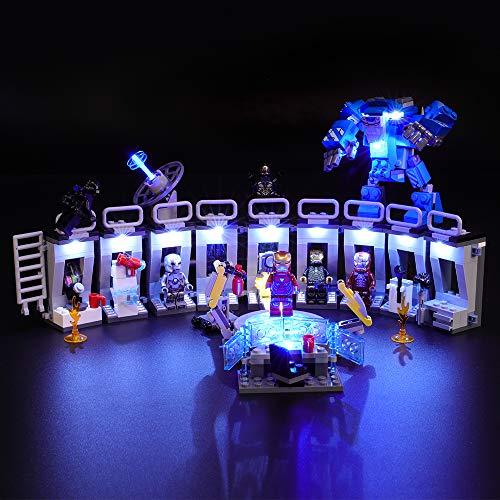 BRIKSMAX Led Beleuchtungsset für Lego Marvel Super Heroes Iron Mans, Kompatibel Mit Lego 76125 Bausteinen Modell - Ohne Lego Set