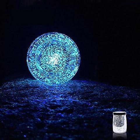 Botella de luna colorido de luces solares de la estrella la noche tarro de sol luces regalos creativos de luz dorada,Blu-ray