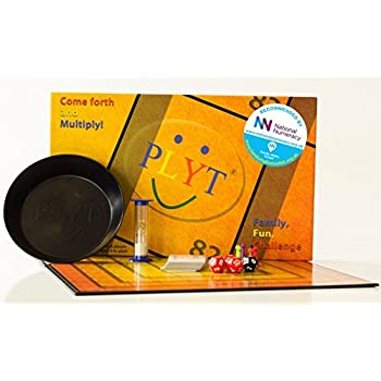 PLYT - the proven family board game where children and adults enjoy competing in a fun and educational maths and number challenge