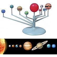 Edealing (TM) DIY Kids Gift Sistema Solar Celestial Bodies Planetas Planetario Kit de Construcción de Modelos Ciencia Astronómica Juguetes Educativos