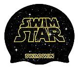 SWIMXWIN Cuffia in Silicone Swim Star | Cuffia da Nuoto| Grande Comfort e aderenza | Design e Stile Italiano