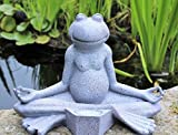 Home Hut Yoga-Frosch-Gartendeko, Solar, Outdoor
