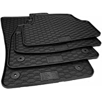 Rubber Mat, Floor Mats Original Quality, 4 Pieces, Black