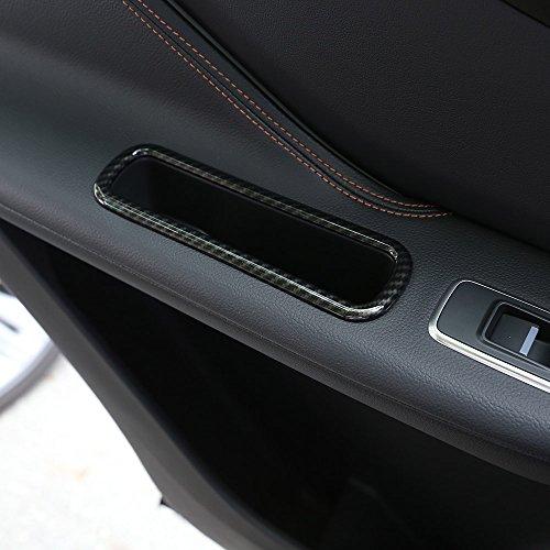 Voiture Iterior c/ôt/é passager Bo/îte de rangement D/écoration Coque Bordure en fibre de carbone pour JAG XE XF F-pace F rythme X761