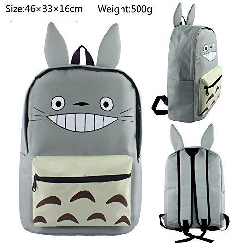 Siawasey Anime japonés Cosplay Bookbag Mochila bolsa de hombro bolso de escuela (Totoro)