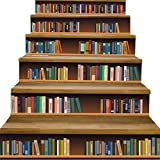 Classic quality Wandkunst Mode 3D-Treppe - Wohnzimmer Bücherregal Bücherregal gestaltet kreative Selbstklebende Abnehmbare Tapetensticker