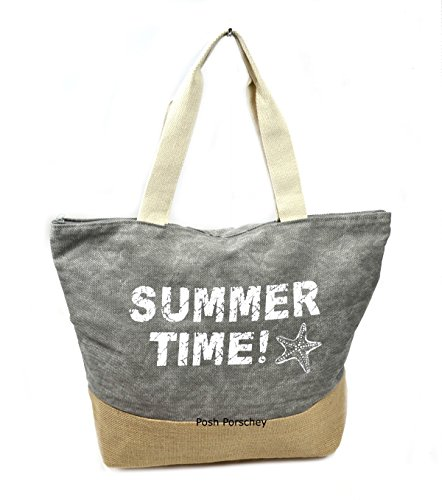 large-ladies-canvas-oversized-beach-holiday-travel-overnight-gym-holdall-maternity-shopper-bag-grey