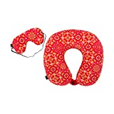 #6: Magic Mosaic Travel Pillow With Eyemask