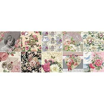 Zita`s Creative Reispapier A3 Decoupage Papier Petite Rose Motiv-Strohseide Strohseidenpapier