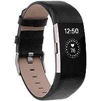 Fitbit Charge 2 Armband , ANGGO Fitbit Charge 2 Ersatz Lederbänder Sport Band Uhrenarmband Lederarmband Erstatzband Armbänd Für Fitbit Charge 2 Unisex Armband