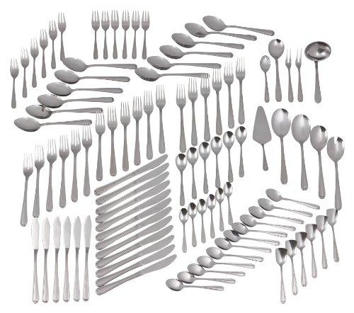 GRÄWE Besteckset für 12 Personen aus Edelstahl, Geschirrset, 100-teilig Set, nickelfrei, rostfrei, handpoliert, spülmaschinengeeignet – Serie Salzburg