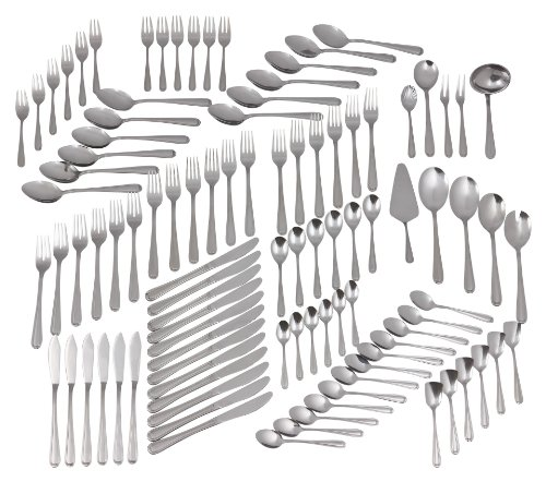 GrÄwe® - set di posate da 100 pezzi per 12 persone, con numerosi pezzi accessori