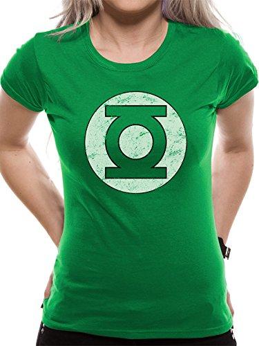 Green Lantern Logo Maglia donna verde L