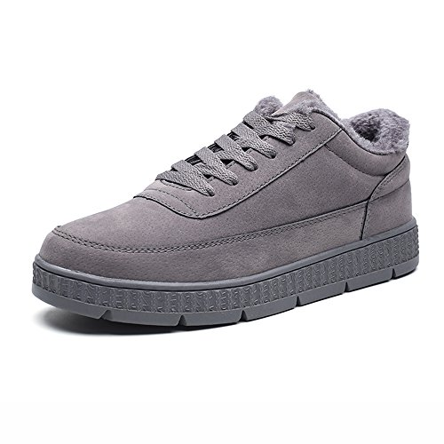 Feifei Zapatos Para Hombres Materiales De Alta Calidad Deporte Y Tiempo Libre Para El Invierno Mantenga Sus Zapatos Calientes Joker 2 Colores (color: Gris, Dimensiones: Eu39 / Uk6.5 / Cn40) Gris